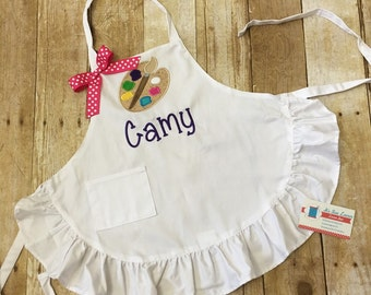 Personalized Ruffled Art Apron