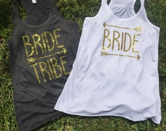 Bride Tribe, Bachelorette Shirts, Wedding Favors, Reception Shirts, Bride, Bridesmaid, Maid of Honor