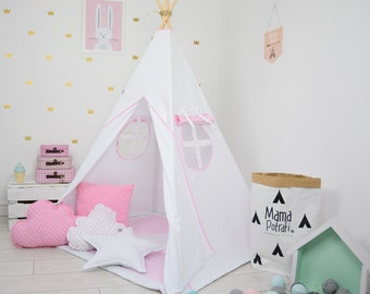 childrens teepee playtent tipi zelt wigwam kids teepee. Black Bedroom Furniture Sets. Home Design Ideas