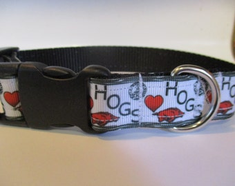 Arkansas Razorbacks dog collar Hogs Adjustable nylon