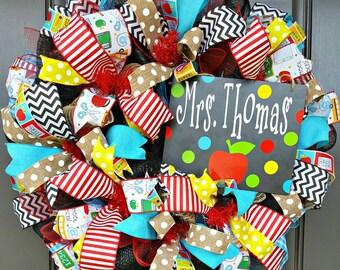 Teacher Appreciation Wreath - Teacher Wreath- Classroom Wreath - Teacher Gift - School Wreath