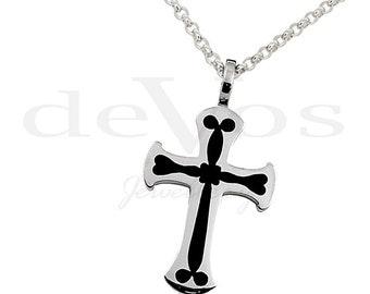 Enamel Cross Pendant