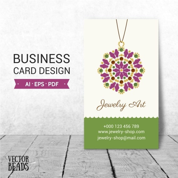 items similar to jewelry business card business card design business card template vector. Black Bedroom Furniture Sets. Home Design Ideas
