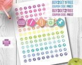 Student icons, Student printable planner stickers for use with Erin Condren LifePlanner, Filofax, Plum Paper, Happy Planner
