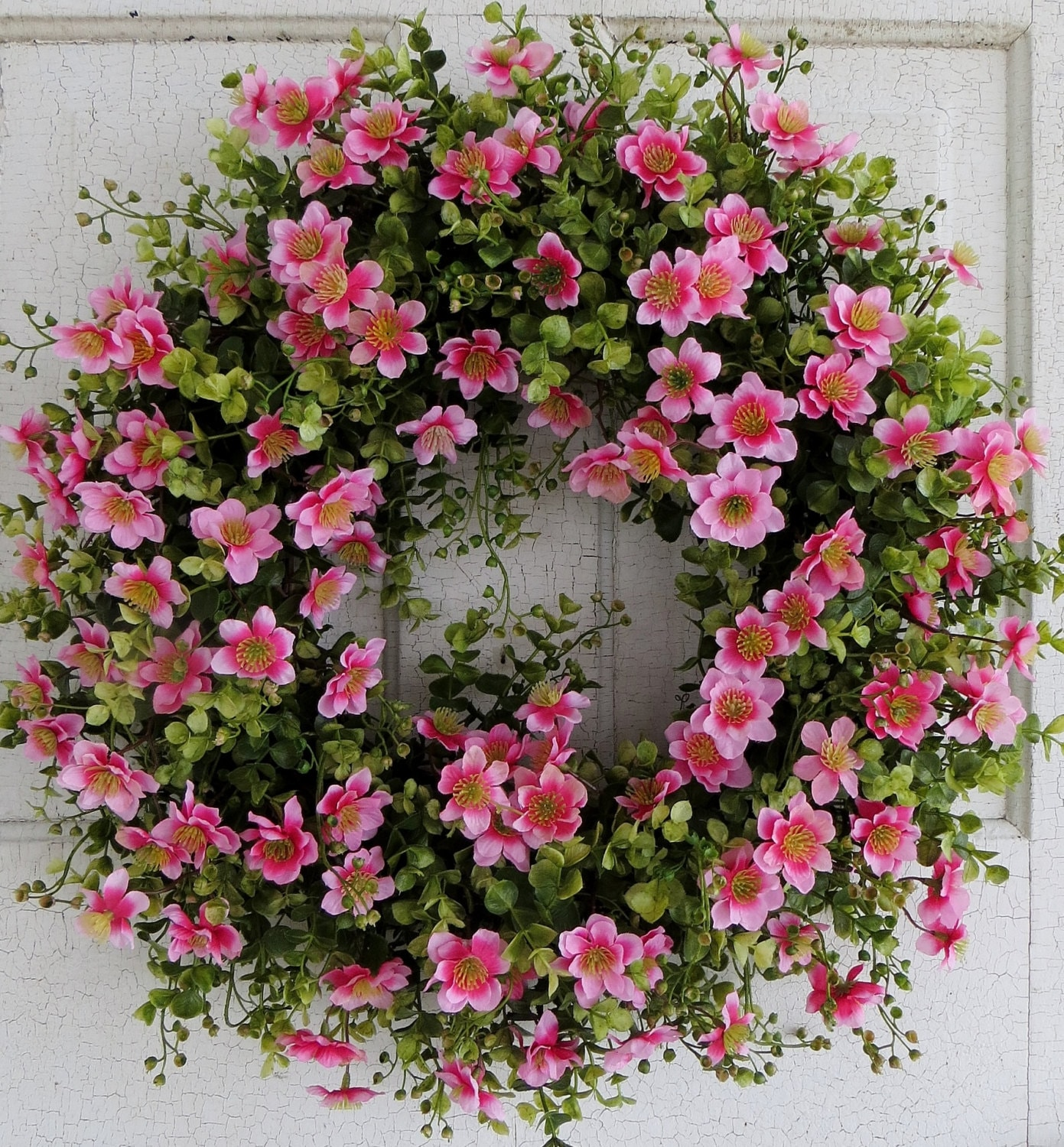 Large Floral Door Wreath Flower Wreath Spring Summer Door |Spring Flower Wreath