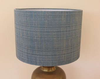 Bespoke Teal Lampshade in Harlequin Fabric's 'Raya' in Cya - custom made in your choice of shape and size