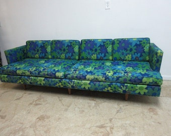 9ft Vintage Mid Century Mastercraft Low Slung Sofa Couch Danish Modern