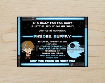 Star Wars Baby Shower Invitation, Jedi Baby Shower, Star wars Invitation, Baby shower Invitation, Boy baby shower invitation