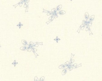 SALE - Silver Spoon - Ooh La La by Bunny Hill Designs for Moda Fabrics, Light Blue, Cream, Spoons, Bows - 2834 13