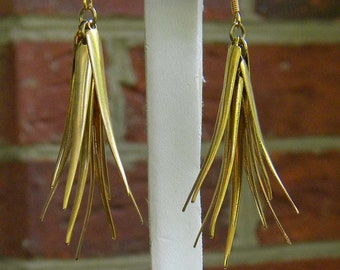 Vintage Gold Plated Earrings.