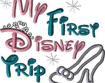 Disney My first Disney trip with Cinderella Slipper applique