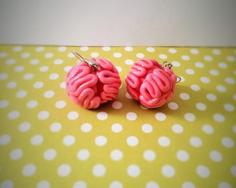 Brains for Your Zombie Polymer Earrings