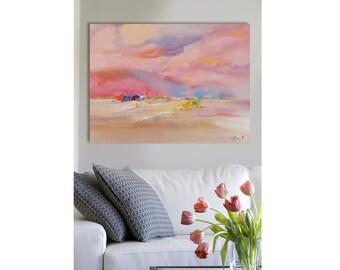 Waiting land,landscape,wall art,original painting,Oeuvres d'art contemporain,christian art,contemporary art