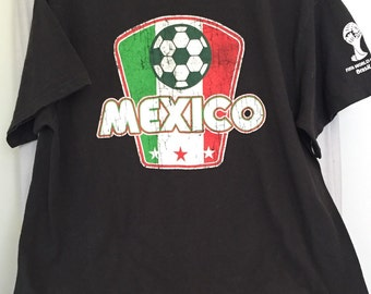 World Cup T-shirt, Official FIFA Rare Mexico Soccer Upcycled Tee, Size XL, Excell Cond.
