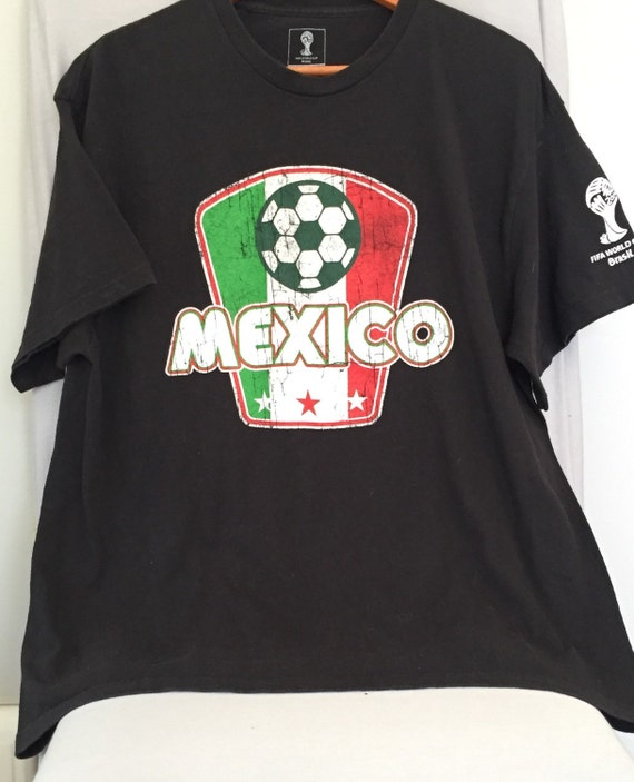 World Cup T-shirt Official FIFA Rare Mexico Soccer Upcycled