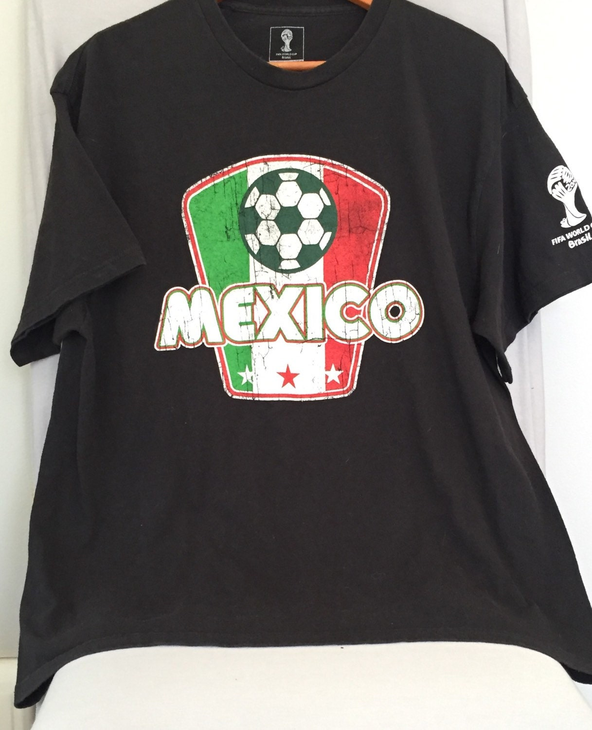 world cup t shirt official fifa rare mexico soccer upcycled
