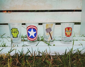 The Avengers Shot Glasses