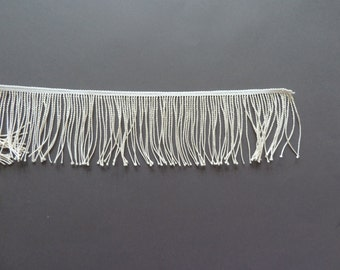 Fringe trim vintage, simple tassels in cream white, timelessly beautiful