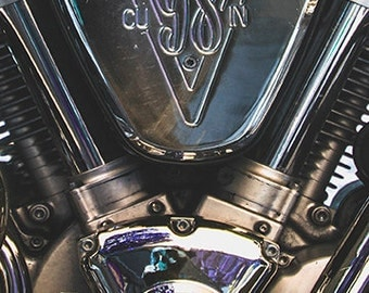 A6 Greeting Card - Made For Your Man-Motorbike Engine - 105mm x 148mm (blank inside)- with envelope, photo greetings card, fine art card