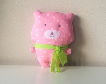 Free shipping,handmade bear, toy bear, fabric bear, stuffed bear