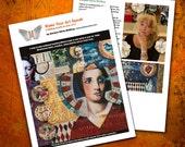 Make Your Art Speak // art instruction // step by step learning // mixed media art// art surface techniques // art teacher resource