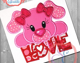 PUPPY LOVE Design For Machine Embroidery INSTANT Download
