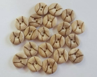 Coconut Baseball Buttons x 10