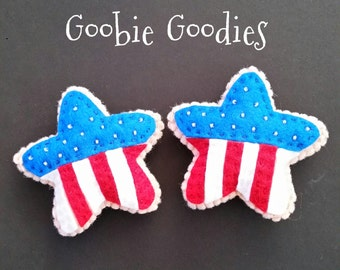 Patriotic Felt Cookies for Pretend Play