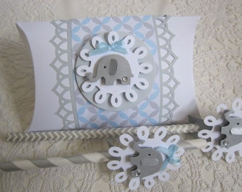 Baby Shower Favor Boxes, Elephant Favor Boxes, Baby Boy Favor Boxes, Baby Birthday Favor Boxes,Baby Favor Boxes, Favor Boxes.