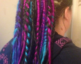 Electro candy dreadfalls. Tie in dreads