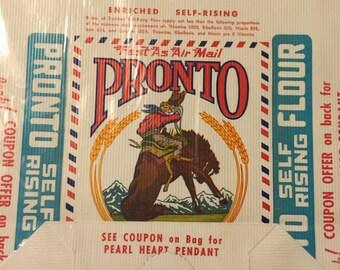 Vintage Pronto Flour Paper Bag