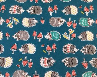 Monaluna ORGANIC FABRIC - Anya Knit - Hedgies - Teal