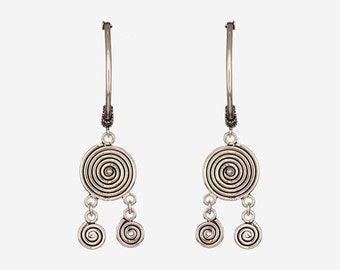 Spiral Balli - Handcrafted Sterling Silver Earrings