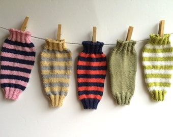 Hand Knitted Baby Leg Warmers with Cashmere, assorted colours, size 0 - 6 mths , 6 - 12 mths
