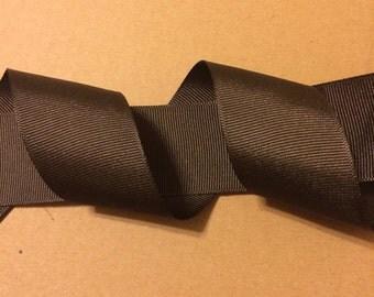 1.5 inch Brown Grosgrain Ribbon