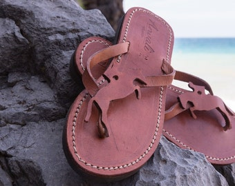 Horse riding Flip Flops Sandals Handmade Leather