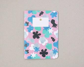 Flowers Notebook / carnet fleurs papier découpé / A5 / fabriqué à la main / handmade