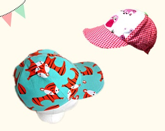 Baseball cap PDF sewing pattern - AnniNanni Baseball Cap - summer spring hat - kids - children
