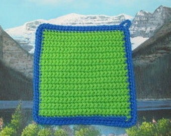 0245 Hand crochet double thick hot pad
