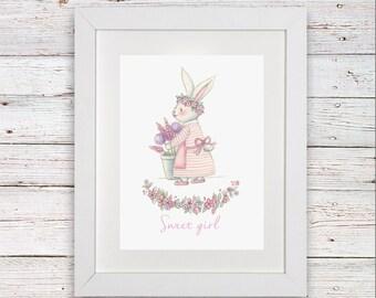 Beautiful hand designed Sweet Girl Print