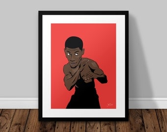 Anthony Joshua Illustrated Poster Print | A6 A5 A4 A3