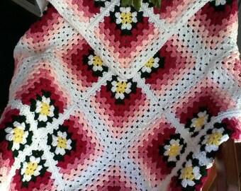 Crochet daisy afghan