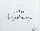 ADD ON for logos a custom change - change the color and small details of your logo