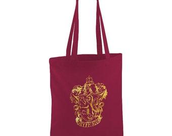 Harry Potter inspired Grythindor burgandyTote bag