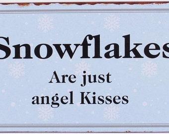 Metal sign Snowflakes