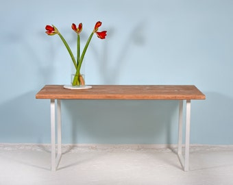 Desk made of timber & iron SITTARD WIT