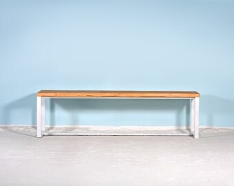 Bench made of timber & iron BOXI WIT