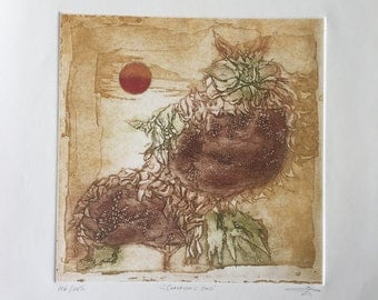 """Vintage etching """"Summers End"""" by O'Henry"""