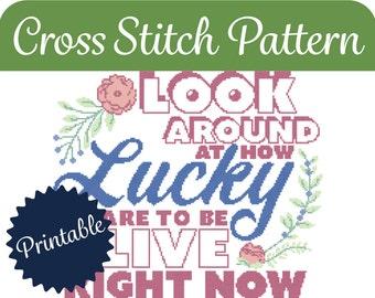 Cross Stitch Pattern - Lucky