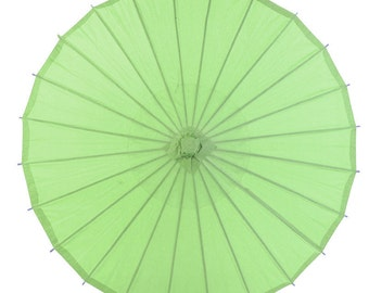 "32"" Grass Green Paper Parasol Umbrella - 40PP-GG"